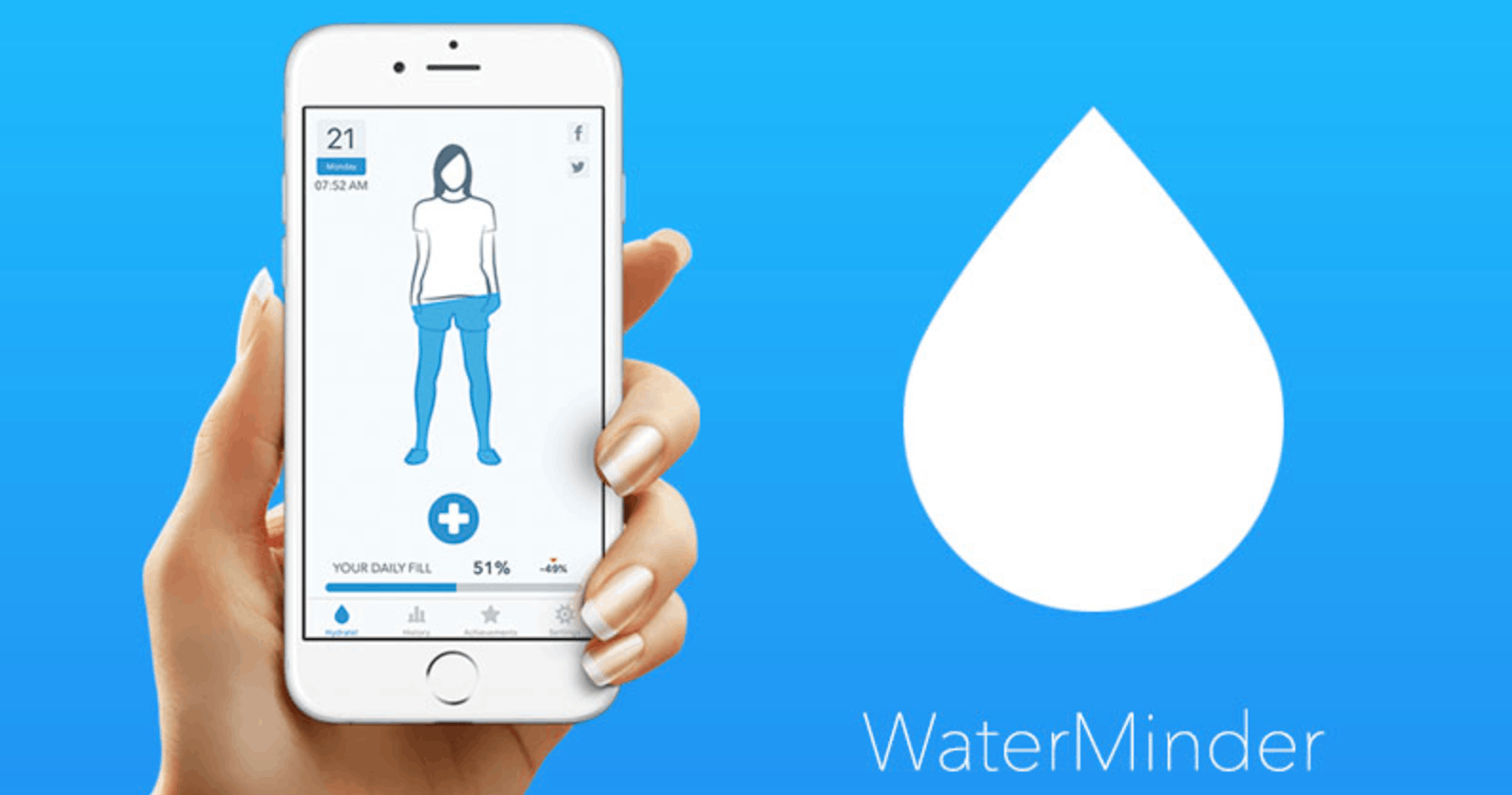 The App that Reminds Users to Drink More Water - How to Download WaterMinder
