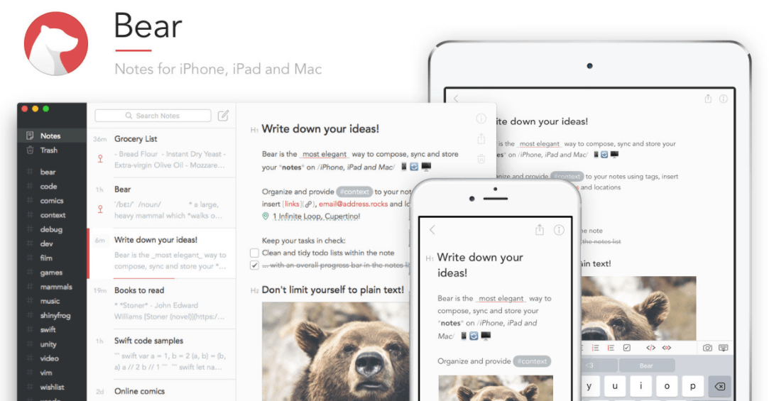Learn How to Take Notes Quickly - Use the Bear App to Make Note Taking Easier