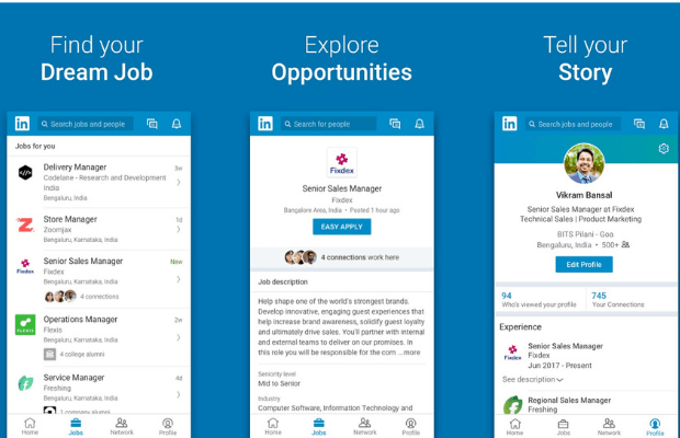 Build a Network by Downloading the LinkedIn App