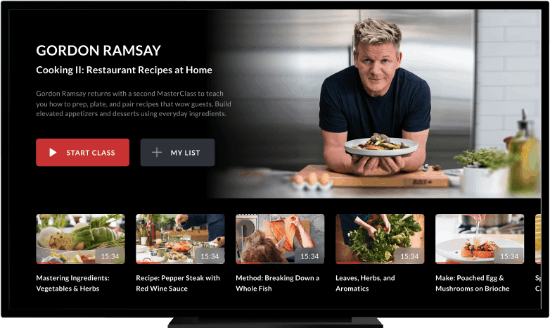 Learn How Cook With The MasterClass App
