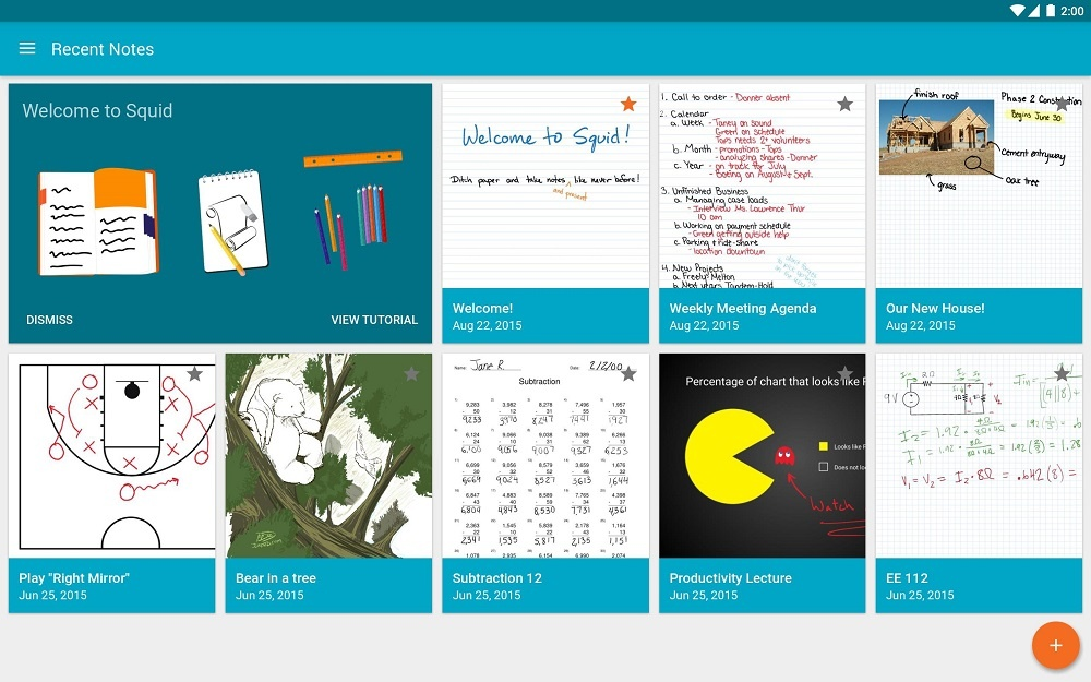 Squid App - Take Notes Online