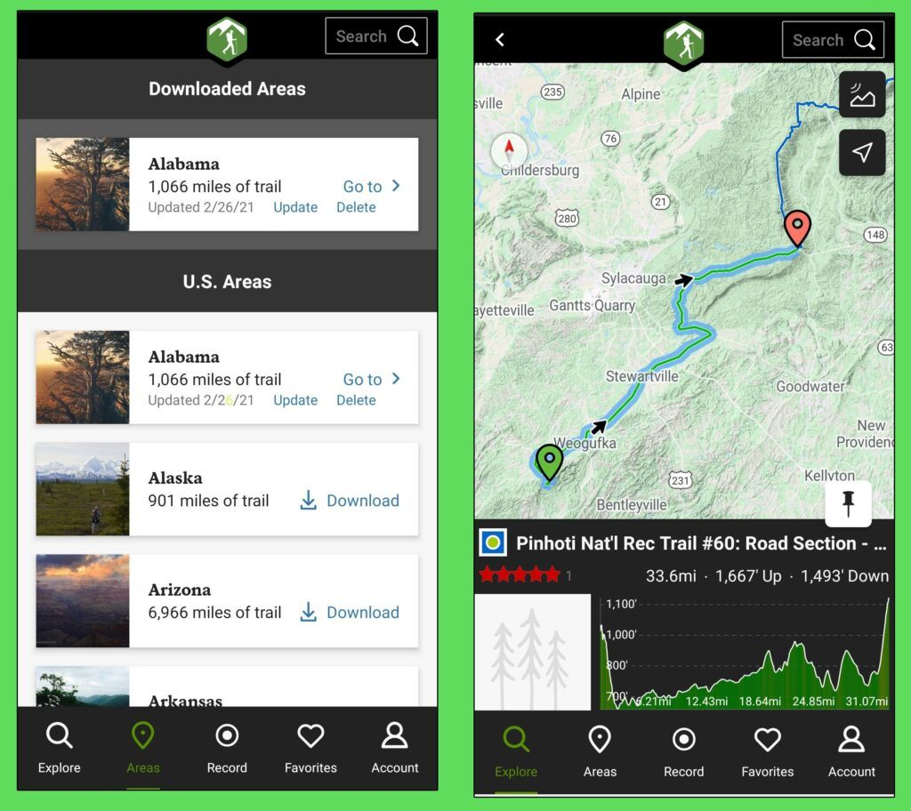 Hiking Project App - How to Download