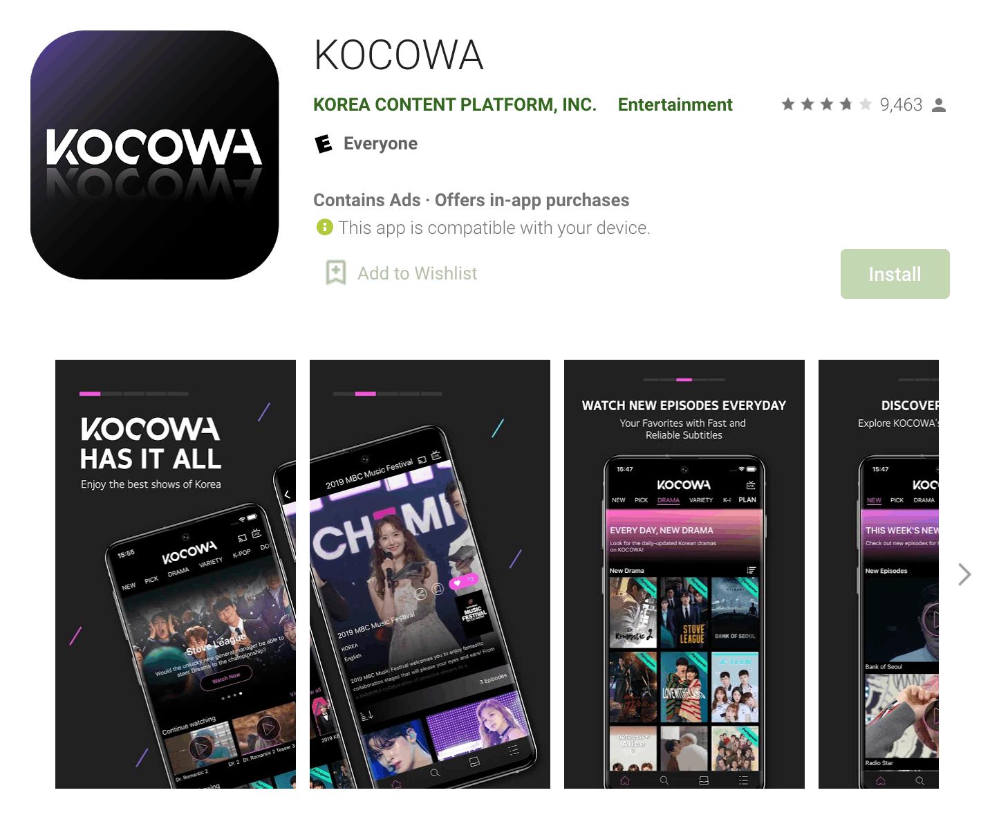 KOCOWA - Enjoy the Best Shows
