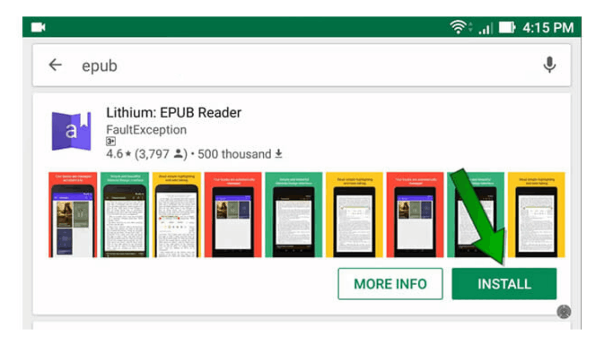 Lithium App - Read EPUB Files