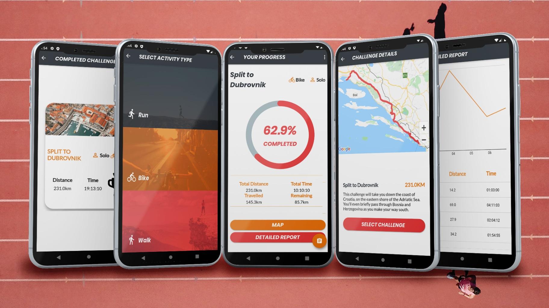 Myles App - Bike & Walk Fitness Challenges